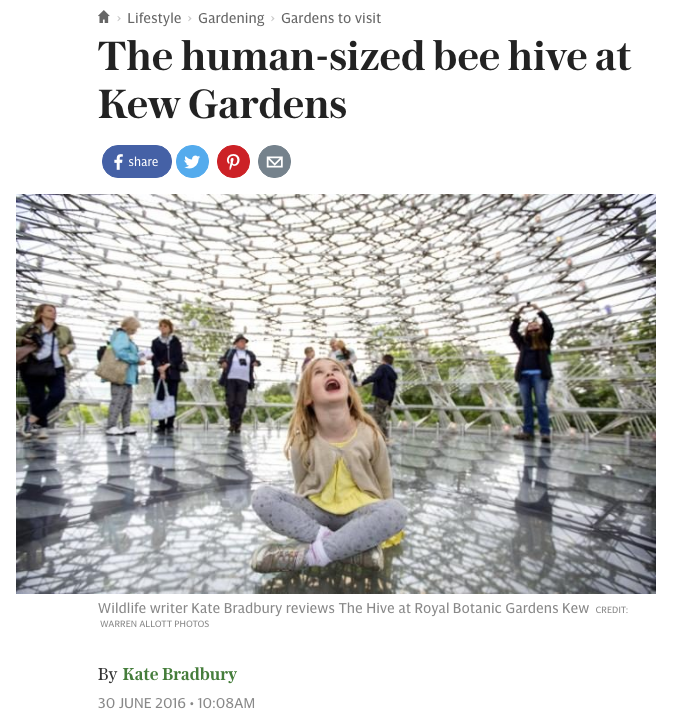 The human sized bee hive at Kew Gardens  The Telegraph